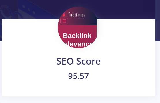 SEO Score from tabtimize
