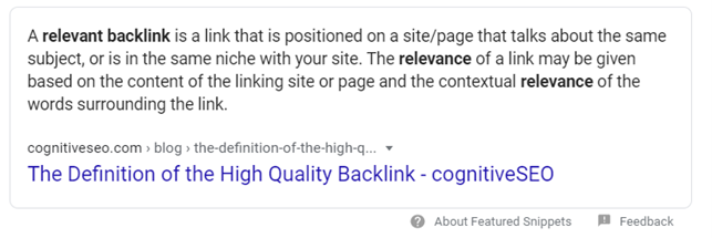 Definition of quality link