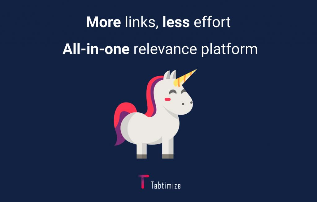 more links less effort. All-in-one relevance platform