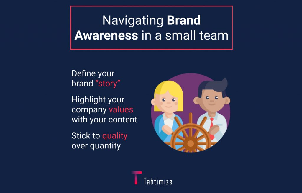 navigating brands awareness in a small team