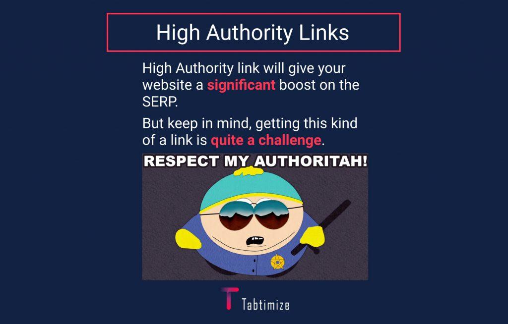 high authority links
