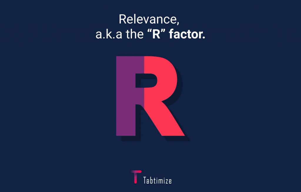 Relevance, the R factor