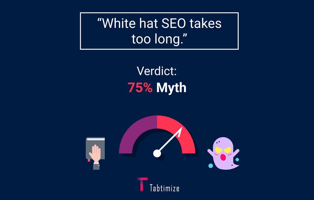 SEO myth 4 - White hat SEO takes too long