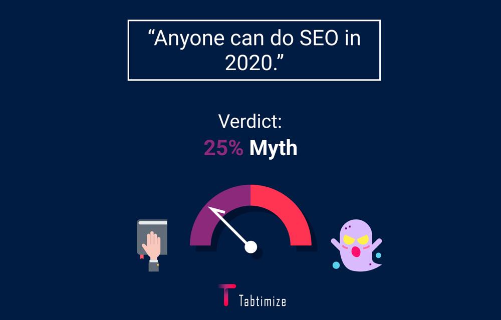 SEO Myth 9 - Anyone can do SEO in 2020