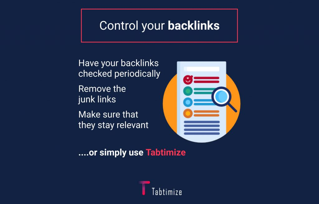 control your backlinks
