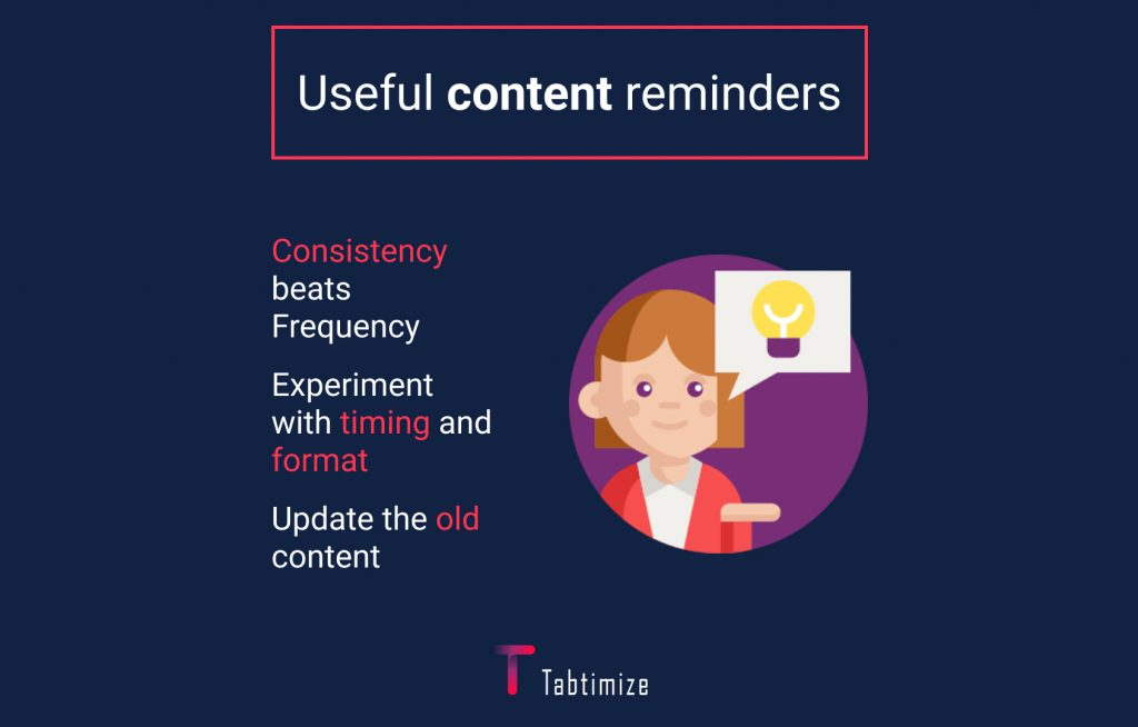 Use content reminders