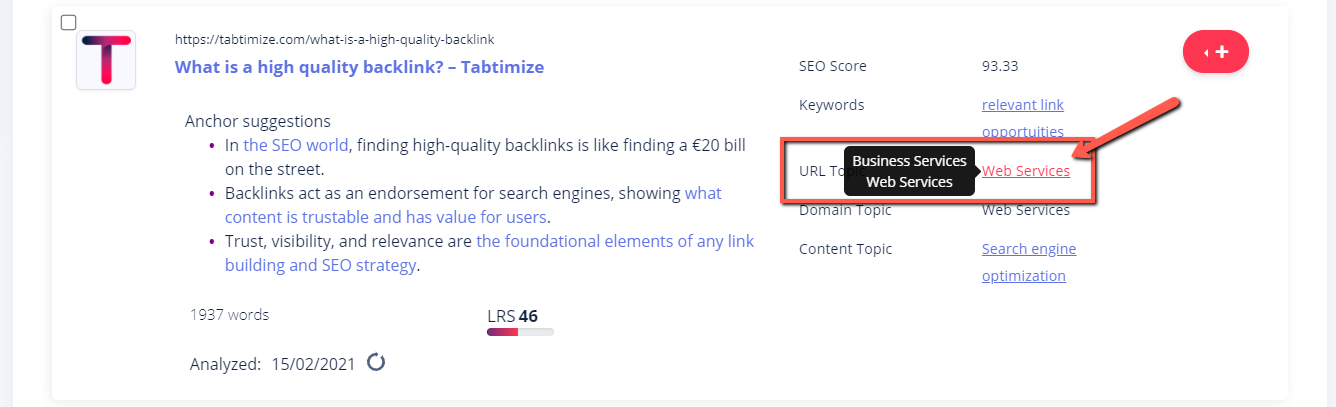 URL topic
